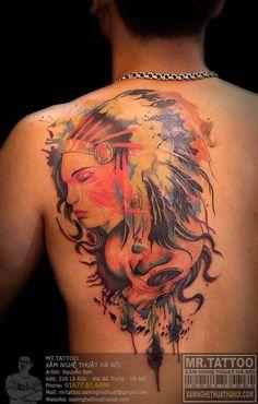 Hình xăm cô gái thổ dân