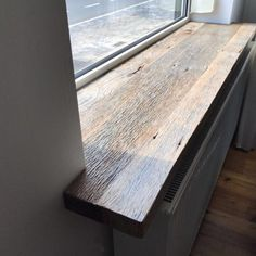 kitchen ideas – New Ideas Wood Window Sill, Kitchen Window Sill, Window Seal, Basement Windows, Wood Windows, Windows And Doors, Studio Apartment Plan, Window Molding Trim, Western Rooms