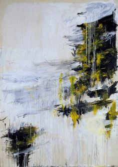Cy Twombly / Quattro Stagioni: Inverno / 1993-5 / Acrylic paint, oil paint and graphite on canvas