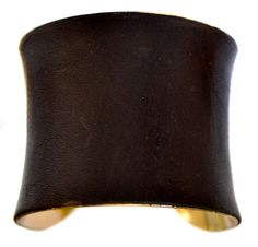 Leather Gold Lined Cuff Bracelet $45