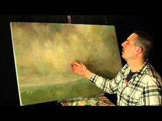 ▶ Creating subtle compliments in your skies when painting with acrylics by Tim Gagnon - YouTube