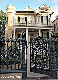 The historic Corn Stalk Hotel in New Orleans - I have always loved the fence and gate - so unique