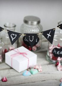 Miniature medium wooden chalkboard bunting - my wedding store Wedding Favours Easter, Alcohol Wedding Favors, Diy Wedding Favors, Easter Birthday Party, Budget Bride, Wedding Store, Cookie Gifts, Bunting, Chalkboard