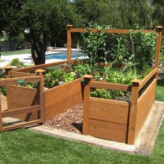 Vegetable Garden Kit  #diy #gardens #vegetables  Kit includes everything but the lumber: 8 Raised bed brackets, netting for fencing and trellis, all required hardware and detailed ... more