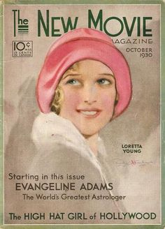 sydneyflapper:  Loretta Young on the cover of The New Movie October 1930