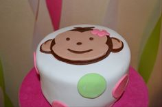 Monkey Cake that coordinates with the monkey birthday shirt from www.etsy.com/thesmplyadorable