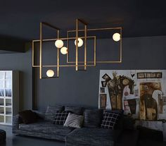 Mondrian Glass ceiling structure by Italian custom lighting company Venice M