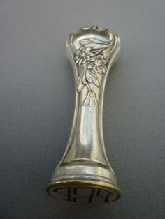 Art nouveau Wax Seal Stamp Silverplated FEF
