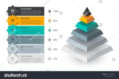 Isometric Infographic design with 6 options leves or steps. Infographics for business concept. Can be used for presentations banner, workflow layout, process diagram, flow chart, info graph Infographics#steps#concept#business