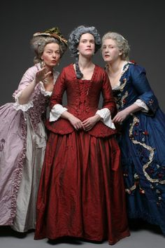Three fabulous ladies in equally fabulous gowns! [Nordstjernan - 1700-tal]