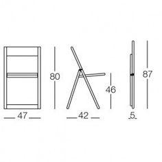 Magis - Aviva Folding Chair - line drawing Wooden Folding Chairs, Wicker Dining Chairs, Folding Furniture, Ikea Chair, Diy Chair, Garden Chair Cushions, Cushions Ikea, Office Chairs Canada, Chair Drawing