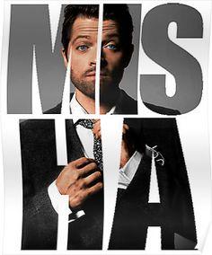 'Misha Misha Misha Collins' Poster by Misha Colins, Dean, Supernatural Tv Show, Handsome Actors, Destiel, Dance Music, Superwholock, Film, Fangirl