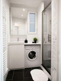 réduire la fenêtre, petite machine & voilà 1 douche à la place de la baignoire!