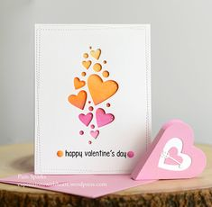 poppystamps Heart Confetti Collage and Memory Box Heart Gift Box… |