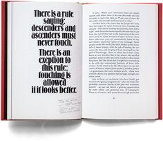 Wyrażenie Erik Spiekermanna o rozstawie linii oporu.  Cytat jest przygotowana w Spiekermanna typu zdjęcia ożywienie Louis Oppenheims Lo-Schrift (Berthold, 1914).