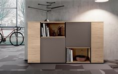 Madia 108 Desk With Drawers, Sideboard, Tall Cabinet Storage, Flooring, Table, Room, Furniture, Sicily, Trivia