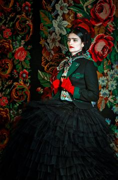 FRIDA De Fashion Photography project – Inspiration Conjunto incrível inspirado em Kahlo