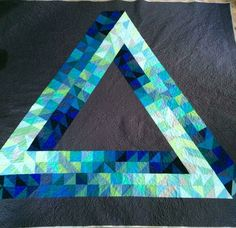 Impossible triangle Penrose triangle quilt