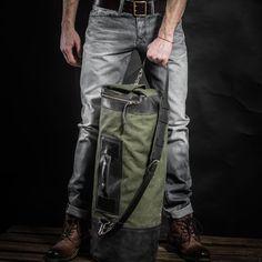 Bolsa de tela de lana basta Kruk garaje lona y bolsa de cuero