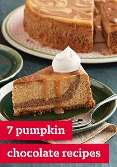 Layered Pumpkin Cheesecake With Belgium Chocolate Recipe — Dishmaps