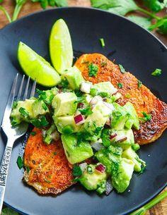 Blackened Salmon with Avocado Salsa | Food Recipes