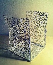 cut paper structure leaves by all things paper