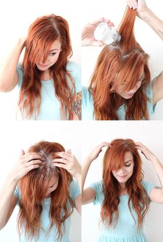 Cornstarch can double as dry shampoo it absorbs hair oil and adds volume to dirty hair 24 Beauty Secrets You Should Really Know Bad Hair, Hair Day, Red Hair Shampoo, Shampoo Seco, Beauty Hacks That Actually Work, French Beauty Secrets, Beauty Tips, Using Dry Shampoo, Diy Beauté