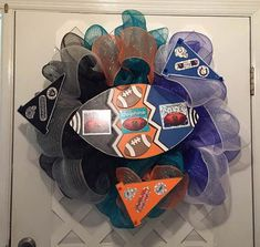 NFL House Divided Wreath - Three Ways -  Professional Football is at a all time high with the NFL! W