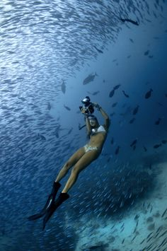 Blue Within by Aaron Wong #maldives #freediving