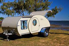 Tiny Yellow Teardrop: Featured Teardrop: The Gidget Retro Teardrop Camper