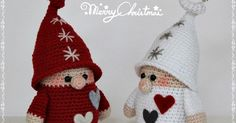 In this free crochet tutorial, you can learn how to crochet this adorable amigurumi gnome in amigurumi! This sweet amigurumi gnome is sure to bring a smile to any face! This amigurumi cutie is a wonderful seasonal decoration . Crochet Santa, Christmas Crochet Patterns, Crochet Amigurumi, Holiday Crochet, Amigurumi Patterns, Crochet Dolls, Free Crochet, Knitting Patterns, Christmas Gnome
