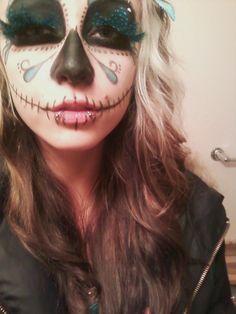 My DIY Dia de los Muertos makeup. cnc