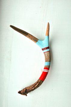 Painted Deer Antler