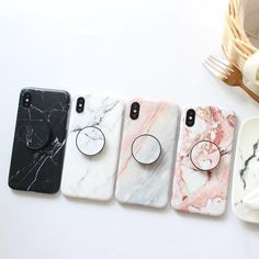 Marble case for iphone (case + popsocket) Iphone 7 Plus, Cases Iphone 6, Floral Iphone Case, Cute Phone Cases, Iphone 8, Case For Iphone, 5s Cases, Marble Iphone Case, Marble Case