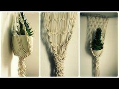 Makramee Blumenampel * DIY * Macrame Plant Hanger [eng sub] - YouTube