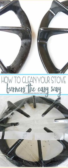 Quickest and easiest way to clean your stove burners!  Do you hate that crusty goop that clings to your stove burners? This amazing DIY will ensure you have a Clean Stove Burner! Super easy and it WORKS!