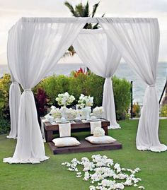 20 Pure White Wedding Decor Ideas for Romantic Wedding White wedding decoration looks so romantic and beautiful. If you want your wedding to be in traditional style then choose a white wedding theme. Destination Wedding Decor, Wedding Events, Wedding Rentals, Rustic Wedding Reception, Wedding Ceremony, Outdoor Ceremony, Outdoor Seating, Wedding Seating, Wedding Favours