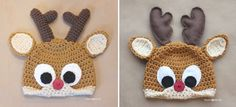 Last year I posted a crochet Rudolph the Reindeer hat pattern (pattern HERE) which was embellished with felt eyes and antlers. Although I absolutely love the look of the felt pieces, the antlers don't really stand up and I've had a lot of requests for crocheted versions of these parts. So here ya go! I …