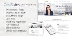 Coolthing is a multipurpose responsive wordpress theme, powered by famous redux framework, ready to go with WooCommerce e-commerce platform.Composite of all requirements for the stylish website, your corporate portfolio, your business site and much more. Modifiable in every aspects of your needs. Coolthing gives you enthusiasm to be in a technological world.