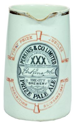 Perkins & Co City Brewery Brisbane Advertising Jug