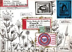 Mirta Toledo...envelope art