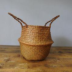 Sea Grass Belly Basket Belly Basket, Natural Materials, Grass, Sea, Bedroom, Handmade, Hand Made, Grasses, The Ocean