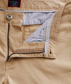 Made from the same soft twill fabric as our Chino Pants, these garment-dyed trousers are built just like your favorite jeans, but with added stretch. They come in two fits—relaxed and straight—that work both in and out of the office. FEATURES: 5 pockets Sku# 40292Tan FABRIC: 97% Pima Cotton, 3% Spandex Mens Chino Pants, Jeans Pants, Khaki Pants, Trousers, Emo Fashion, Gothic Fashion, Waist Cincher Corset, Casual Wear For Men, Waist Training Corset