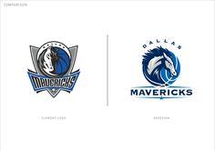 Dallas Mavericks identity concept on Behance