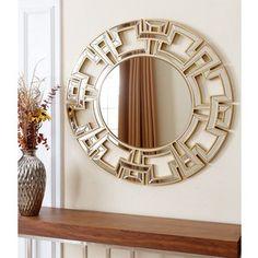 Abbyson Living Pierre Gold Round Wall Mirror