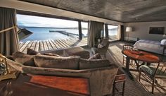 All of the lofty rooms and suites have sweeping views of the icy waters and fjords of Patagonia