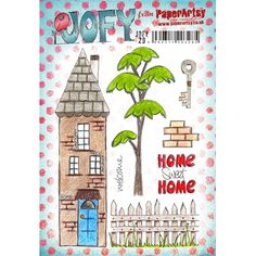 Paper Artsy JOFY 29 Welcome Rubber Cling Stamp JOFY29