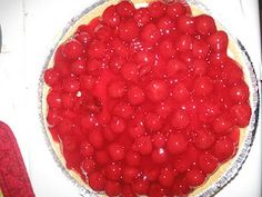 Cherry Cream Pie, a family favorite.  Can easily be made with other fruits, such as blueberries.