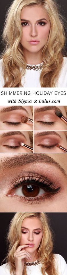 Shimmering Holiday Eyes - 15 Best Beauty Tutorials for Winter 2014-2015 | GleamItUp