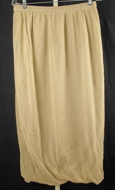 LILITH of France Beige Cotton Gathered Skirt Medium M